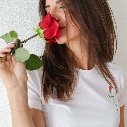 FAUBOURG54 Tシャツ・カットソー 日本未入荷☆FAUBOURG54★T-shirt Rose Amour バラTシャツ(4)