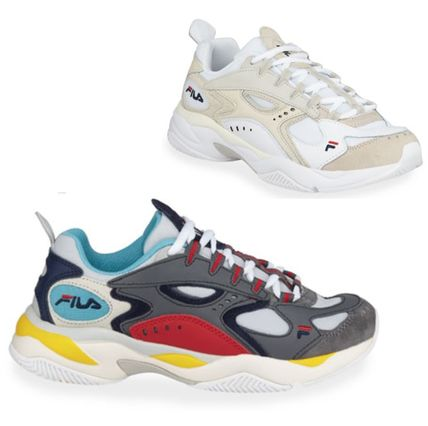 FILA★ボバザラス Colorblock Mixed Leather Runner Sneakers