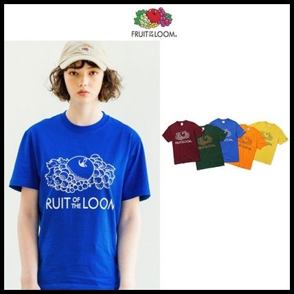 FRUIT OF THE LOOM Tシャツ・カットソー ☆ FRUIT OF THE LOOM☆  [Asian fit] 210g BLANK LOGO T-SHIRTS
