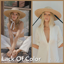 ■Lack Of Color■Dolce Sun Hat ストローハット■リボン付替可