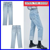 [OPEN THE DOOR]    unbalance roll-up jeans /追跡付