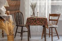 【DECO VIEW】 Red Tulip Tablecloth(2人用)