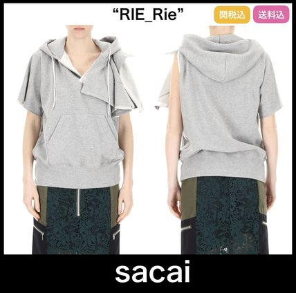 芸能人愛用ブランド【sacai】Asymmetric Trim Hooded Sweater