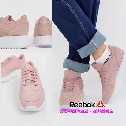 Reebok Classic Leather Double Trainers in Smokey Rose♪