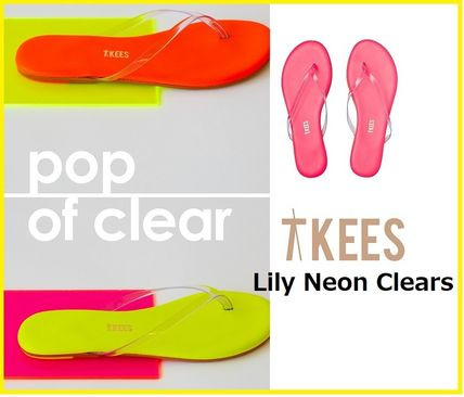 TKEES シューズ・サンダルその他 ネオン&クリアー!Lily Neon Clears☆TKEES