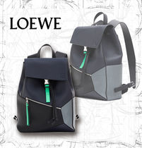 【LOEWE】AW19 Puzzle Backpack Deep Blue/Green