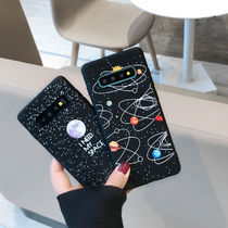 I NEED MY SPACE Galaxy S10 S9 S8plus Note8ケース ブラック系