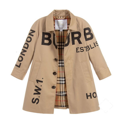 大人も着れる♪ ★ Burberry Horseferry Gabardine Car Coat