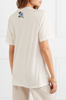 GUCCI Tシャツ・カットソー 関税込 19AW【GUCCI】ロゴ& アップリケ付き コットン Tシャツ(5)