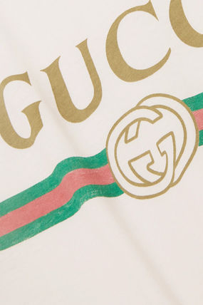 GUCCI Tシャツ・カットソー 関税込 19AW【GUCCI】ロゴ& アップリケ付き コットン Tシャツ(6)