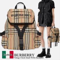 Burberry vintage check small wilfin backpack