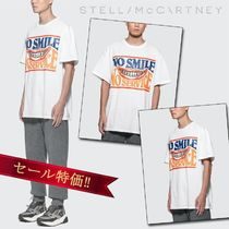 STELLA MCCARTNEY☆No Smileロゴ/Oversize半袖Tシャツ/セール!