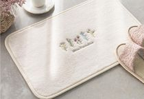 【DECO VIEW】 French flower embroidery foot mat