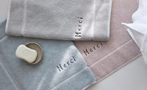 【DECO VIEW】 Merci Embroidery Towel Foot Mat