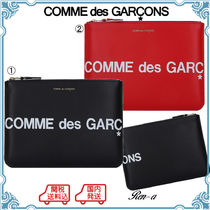 ★COMME des GARCONS★ロゴ入り レザー クラッチバッグ /2色