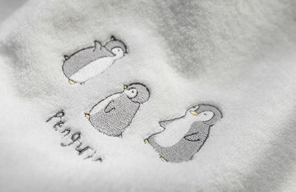 DECO VIEW キッズ・ベビー・マタニティその他 【DECO VIEW】 Penguin embroidery bath towel(4)