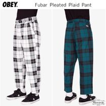 話題沸騰中☆Obey Fubar Big Boy Plaid Pants チェックパンツ