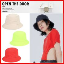 ☆韓国の人気☆【OPEN THE DOOR】☆Smooth Bucket Hat☆5色☆