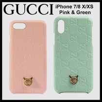 GUCCI★限定 キャット iPhone 7/8 & X/XS ケース★すぐ届く!