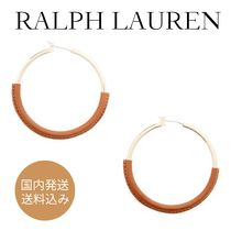RALPH LAUREN☆Brass-Leather Hoopsピアス♡