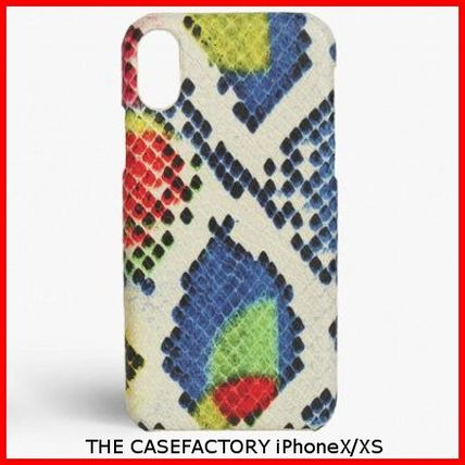 THE CASE FACTORY スマホケース・テックアクセサリー 関税送料込☆THE CASEFACTORY☆IPHONE X/XS PYTHON RAINBOW