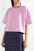 Acne Studios Cylea Emboss Tee フロントロゴ入Tシャツ ピンク