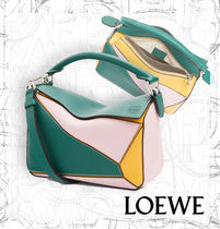 【LOEWE】AW19 Puzzle Small Bag Green/Pastel Pink