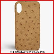 関税送料込☆THE CASEFACTORY☆IPHONE X/XS OSTRICH CAMEL