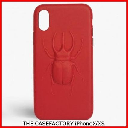 THE CASE FACTORY スマホケース・テックアクセサリー 関税送料込☆THE CASEFACTORY☆IPHONE X/XS BEETLE CALF RED