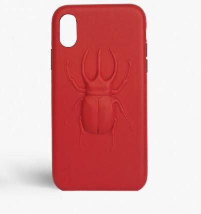 THE CASE FACTORY スマホケース・テックアクセサリー 関税送料込☆THE CASEFACTORY☆IPHONE X/XS BEETLE CALF RED(2)