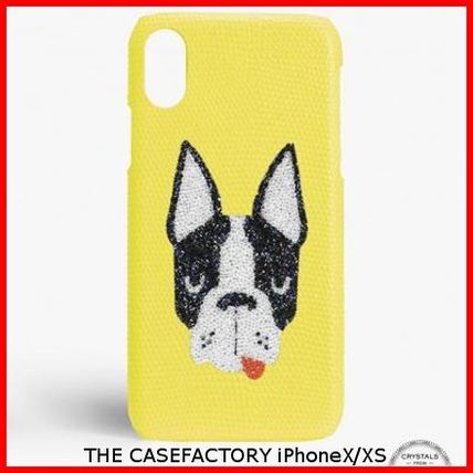 THE CASE FACTORY スマホケース・テックアクセサリー 関税送料込☆THE CASEFACTORY☆IPHONE X/XS SWAROVSKI DOG