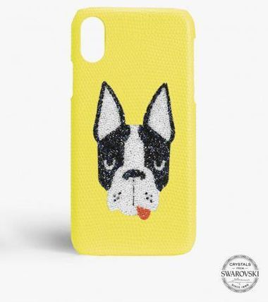 THE CASE FACTORY スマホケース・テックアクセサリー 関税送料込☆THE CASEFACTORY☆IPHONE X/XS SWAROVSKI DOG(2)