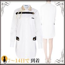 関税込◆White cotton shirt dress