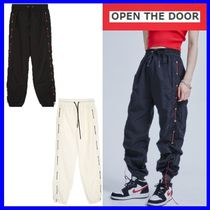 [OPEN THE DOOR] eyelet side string jogger pants (2色)/追跡付