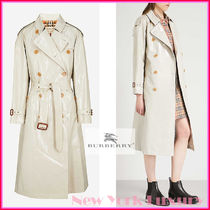 Burberry★素敵!Stone Beige Patent Canvas Trench Rain Coat