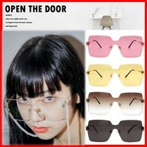 ★【OPEN THE DOOR】★Big Square Rimless Sunglasses★5色★