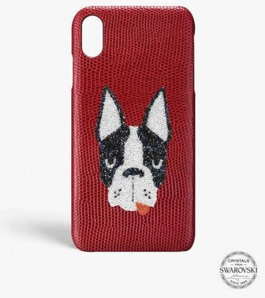 THE CASE FACTORY スマホケース・テックアクセサリー 関送込☆THE CASEFACTORY☆IPHONE XR SWAROVSKI DOG(2)