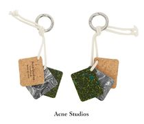 Acne Srudios☆Triple rectangle rope key ring キーリング