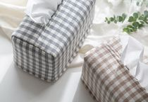 【DECO VIEW】 Check Washing Tissue Cover