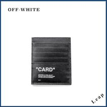 【OFF-WHITE】レアアイテム★BLACK QUOTE CARD HOLDER◎