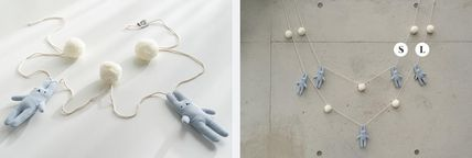 DECO VIEW キッズ・ベビー・マタニティその他 【DECO VIEW】 Blue rabbit pom foam gland  S(2)