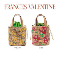 【Frances Valentine】Small Woven Bucket Spring Flowers Poppy