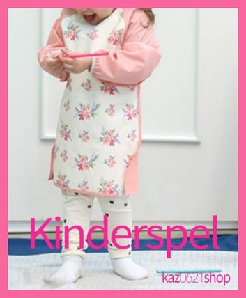 Kinderspel キッズ・ベビー・マタニティその他 キッズ 子供用 デュアルエプロン 防水 離乳食 幼稚園 ポケット