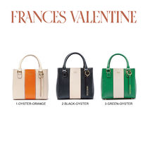 【Frances Valentine】Small Chloe Racing Stripe Grass Oyster