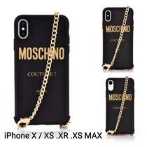 MOSCHINO Couture iPhone X/XS.XR.XS MAX用ケース チェーン付き