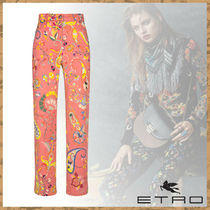 ETRO エトロ Paisley and dancing flower print jeans ジーパン