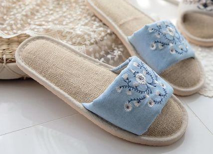 DECO VIEW ライフスタイルその他 【DECO VIEW】 Natural Embroidery slippers(2)