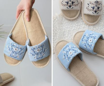 DECO VIEW ライフスタイルその他 【DECO VIEW】 Natural Embroidery slippers(3)