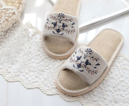 DECO VIEW ライフスタイルその他 【DECO VIEW】 Natural Embroidery slippers(4)