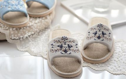 DECO VIEW ライフスタイルその他 【DECO VIEW】 Natural Embroidery slippers(5)
